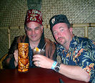 With Dave of the Purple Orchid Tiki Lounge